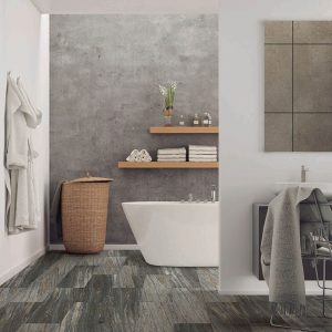 Bathroom view with Vinyl flooring | Andy's 5 Star Flooring