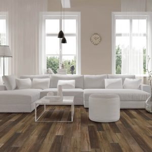 Vinyl flooring in living room | Andy's 5 Star Flooring
