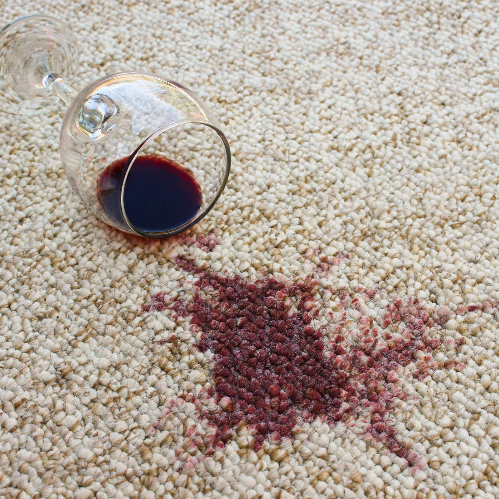 Wine stain on Carpet | Andy's 5 Star Flooring