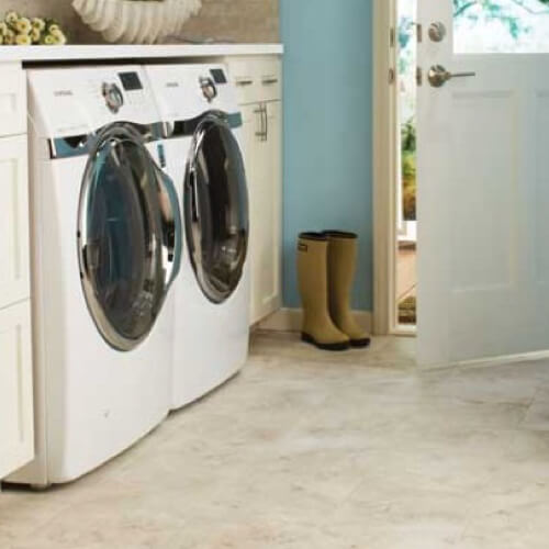 Tile laundry room | Andy's 5 Star Flooring
