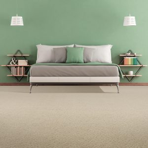 Green colorwall in bedroom | Andy's 5 Star Flooring
