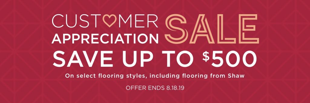 Customer Appreciation Sale | Andy's 5 Star Flooring