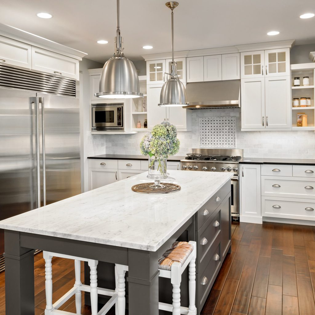 Cabinets white wood | Andy's 5 Star Flooring