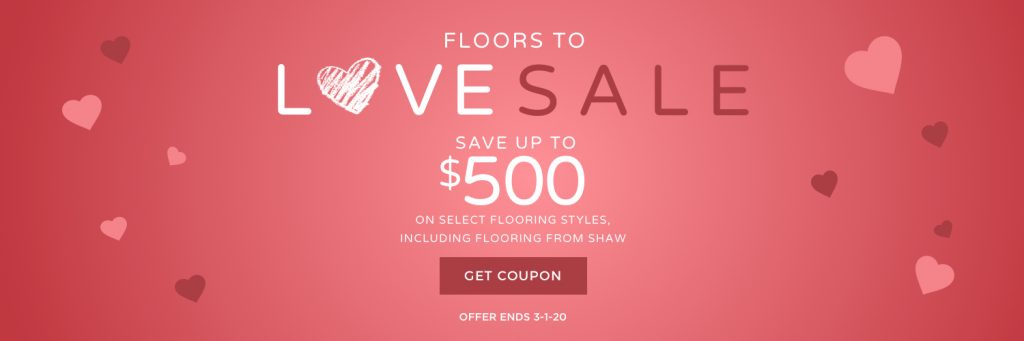 Floors to love sale banner | Andy's 5 Star Flooring