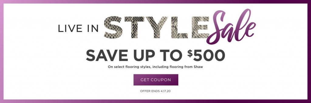 Live in style sale | Andy's 5 Star Flooring