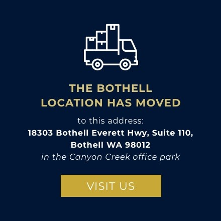to this address: 18303 Bothell Everett Hwy, Suite 110, Bothell WA 98012 in the Canyon Creek office park